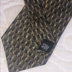 Croft & Barrow Men's Tie - 100% silk - Brown